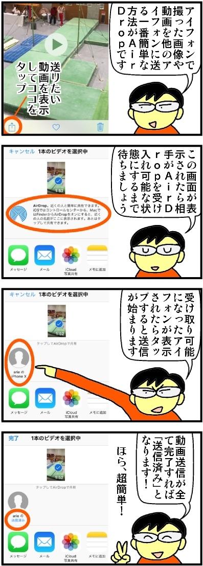アイフォンで撮った画像を簡単に送る方法(AirDrop)