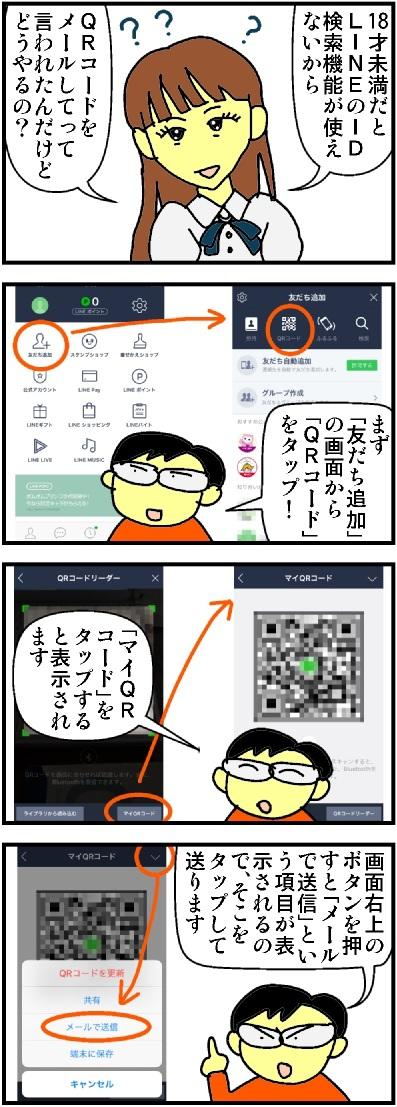 友だちにLINEのQRコードを送る方法